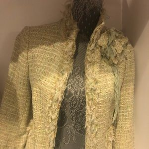 Zara pale green Tweed jacket